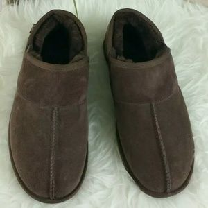 UGG Brown Suede Slippers Shoes Men's Sz10